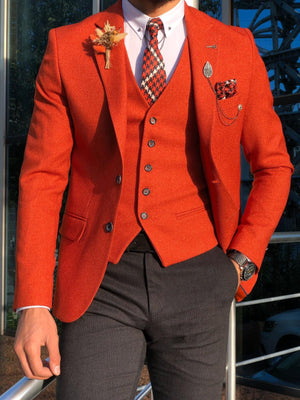 Multi Slim-Fit Suit Vest Tile