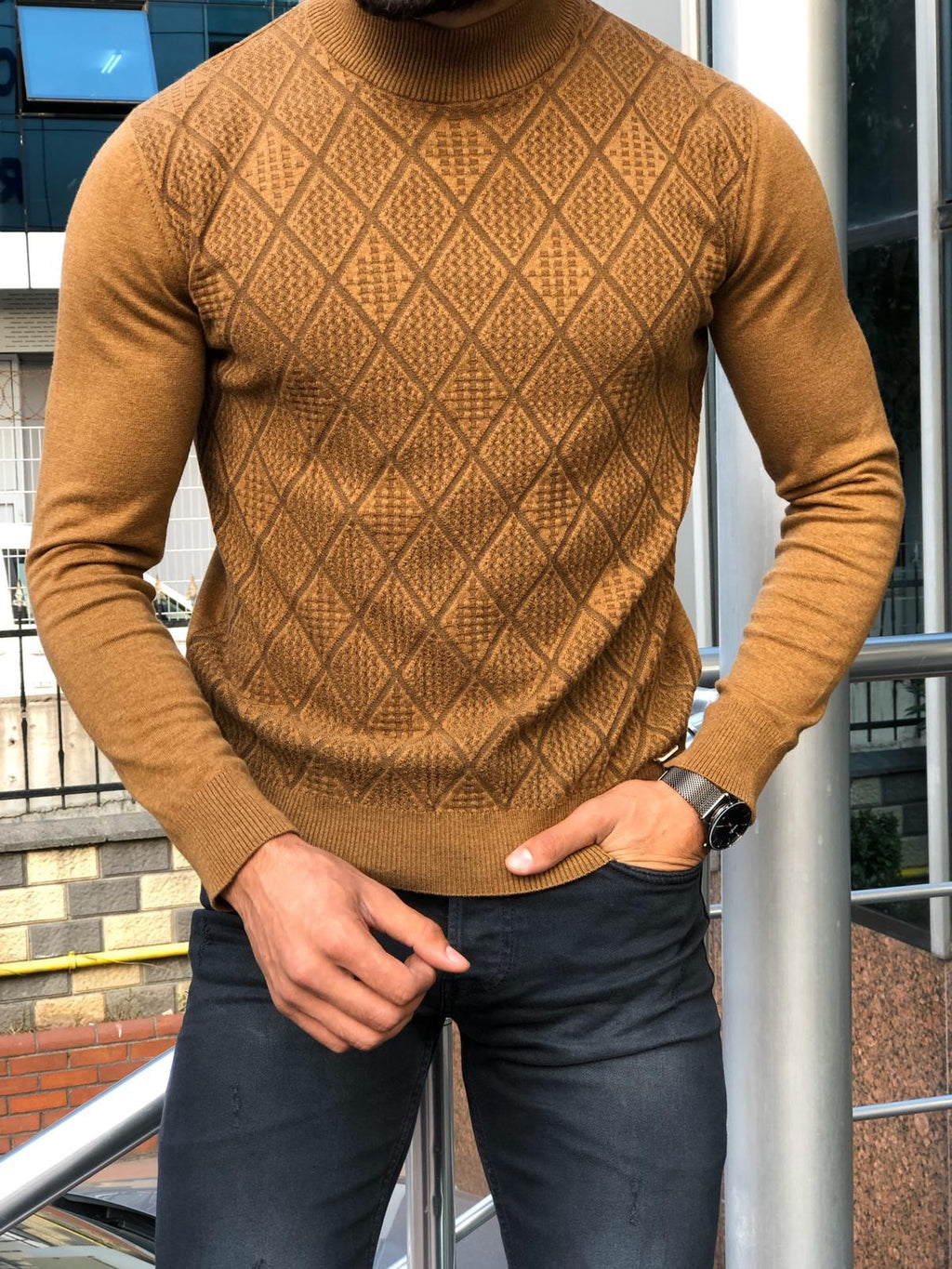 Calvin Slim Fit Mock Turtleneck Sweater