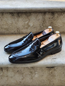Henderson Black Buckle Loafers