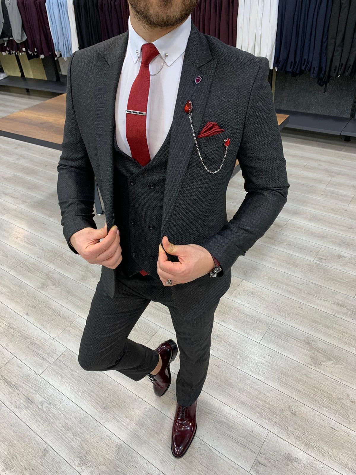Wilson Black Slim Fit Suit