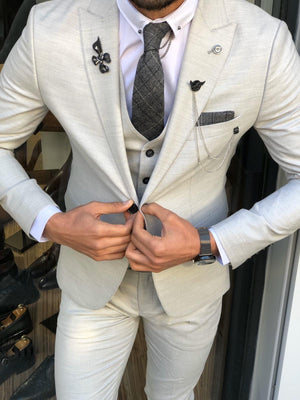 Olympia Gray Slim Fit Suit