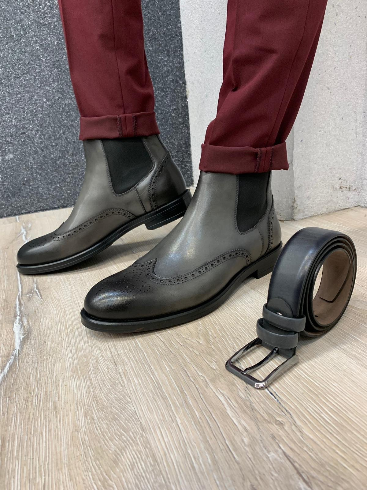 Napoli Leather Boots (4 Colors)