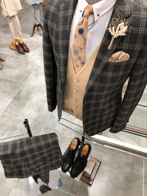 Daniel Black Plaid Patterned Suit