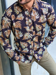 Sparks Black Slim Fit Floral Shirt