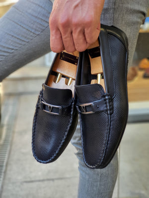 Custer Black Bit Loafers