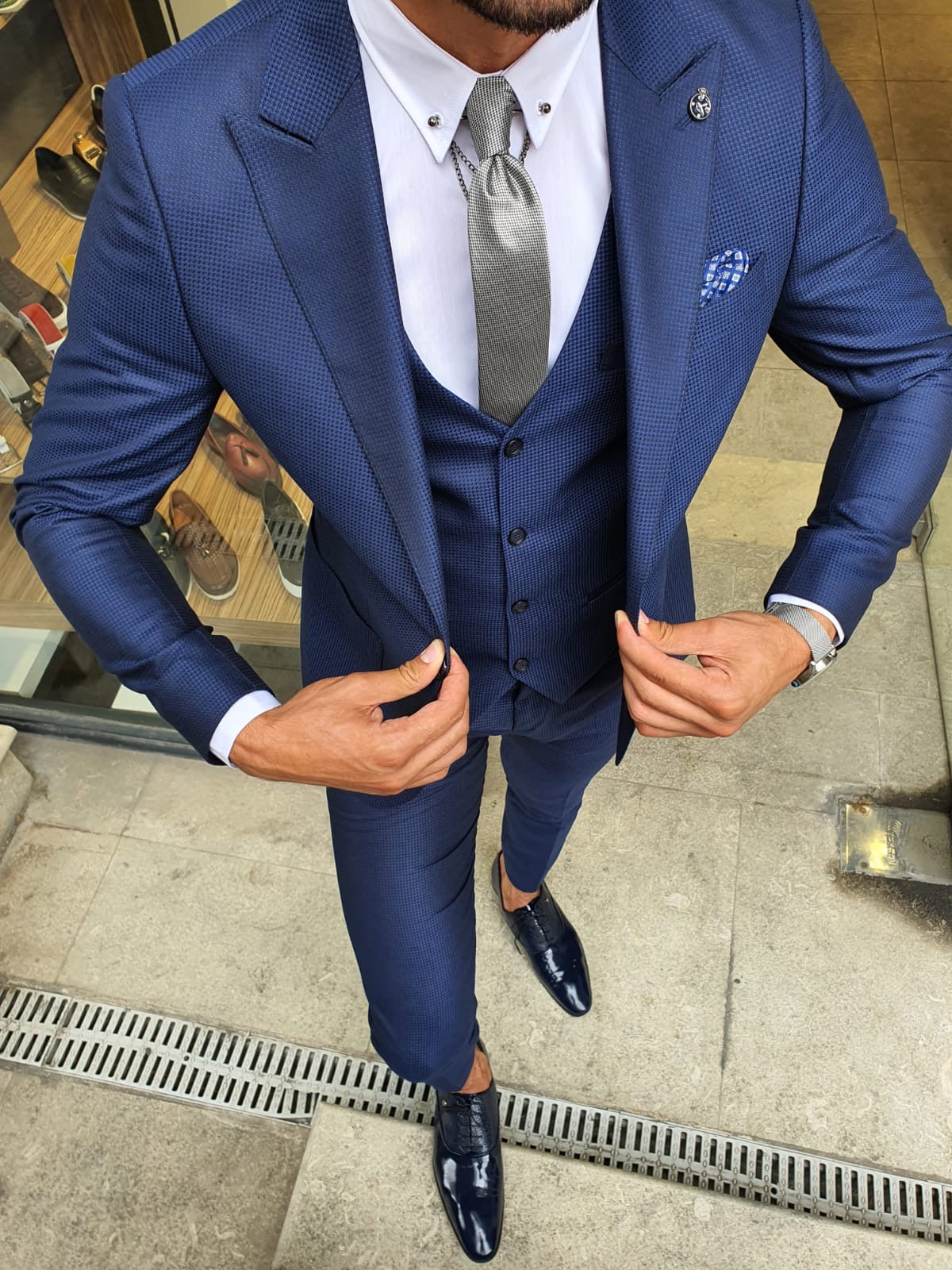 Montgomery Sax Slim Fit Suit
