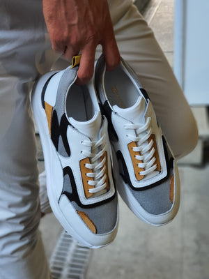 Henderson White Mid Top Sneakers