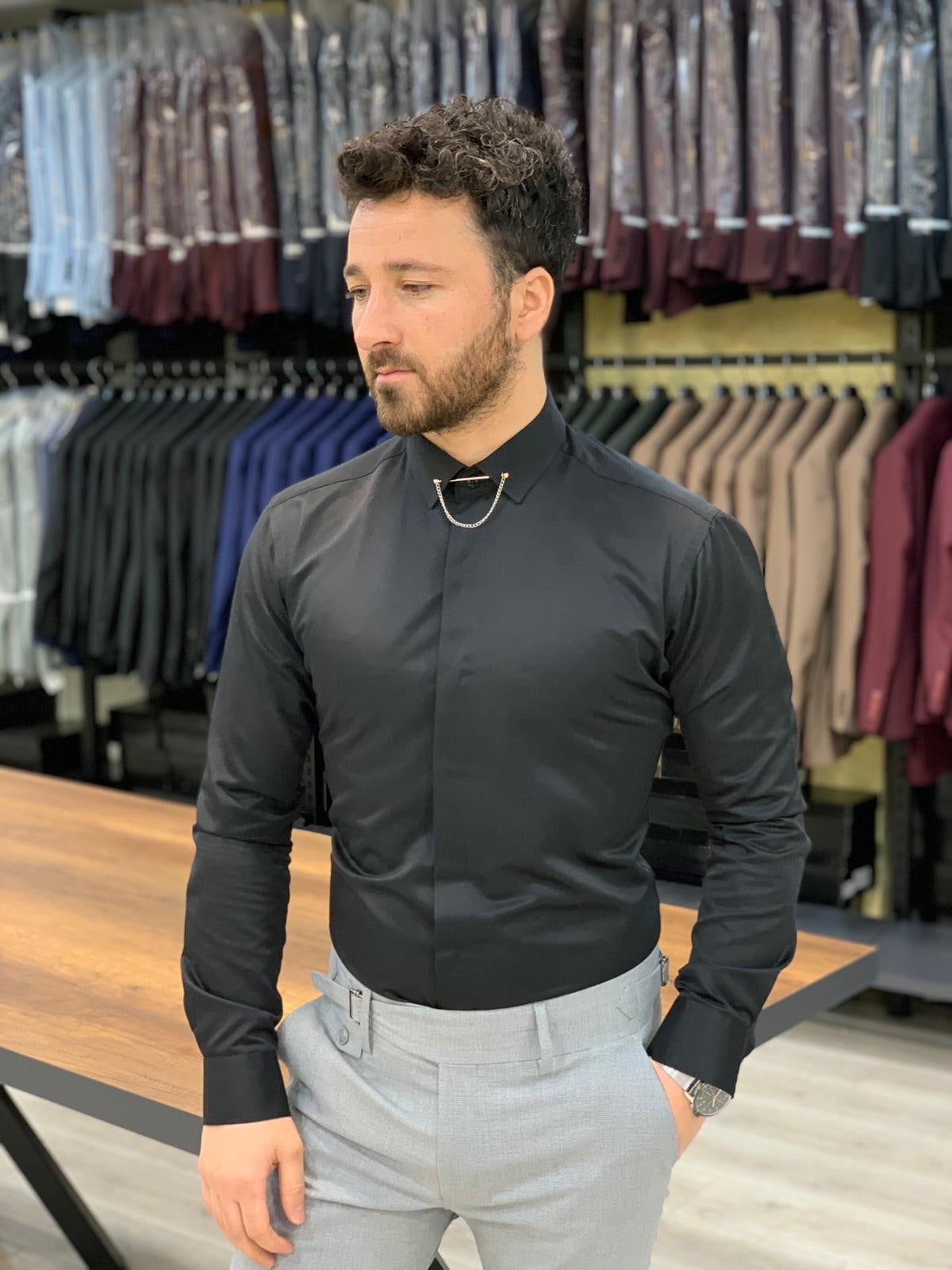Jake Black Slim Fit Shirt