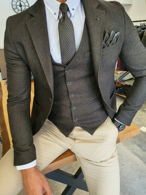 Henderson Khaki Slim Fit Suit