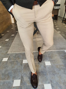 Henderson Beige Slim Fit Pants