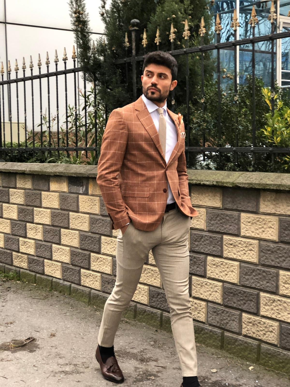 Slim-Fit Suit Vest Camel II