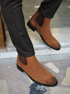 Torino Tan Suede Chelsea Boots