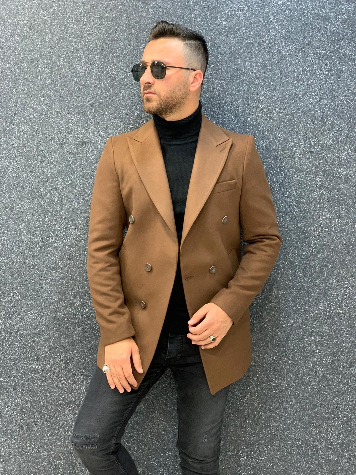 Ade Coffee Slim Fit Long Coat
