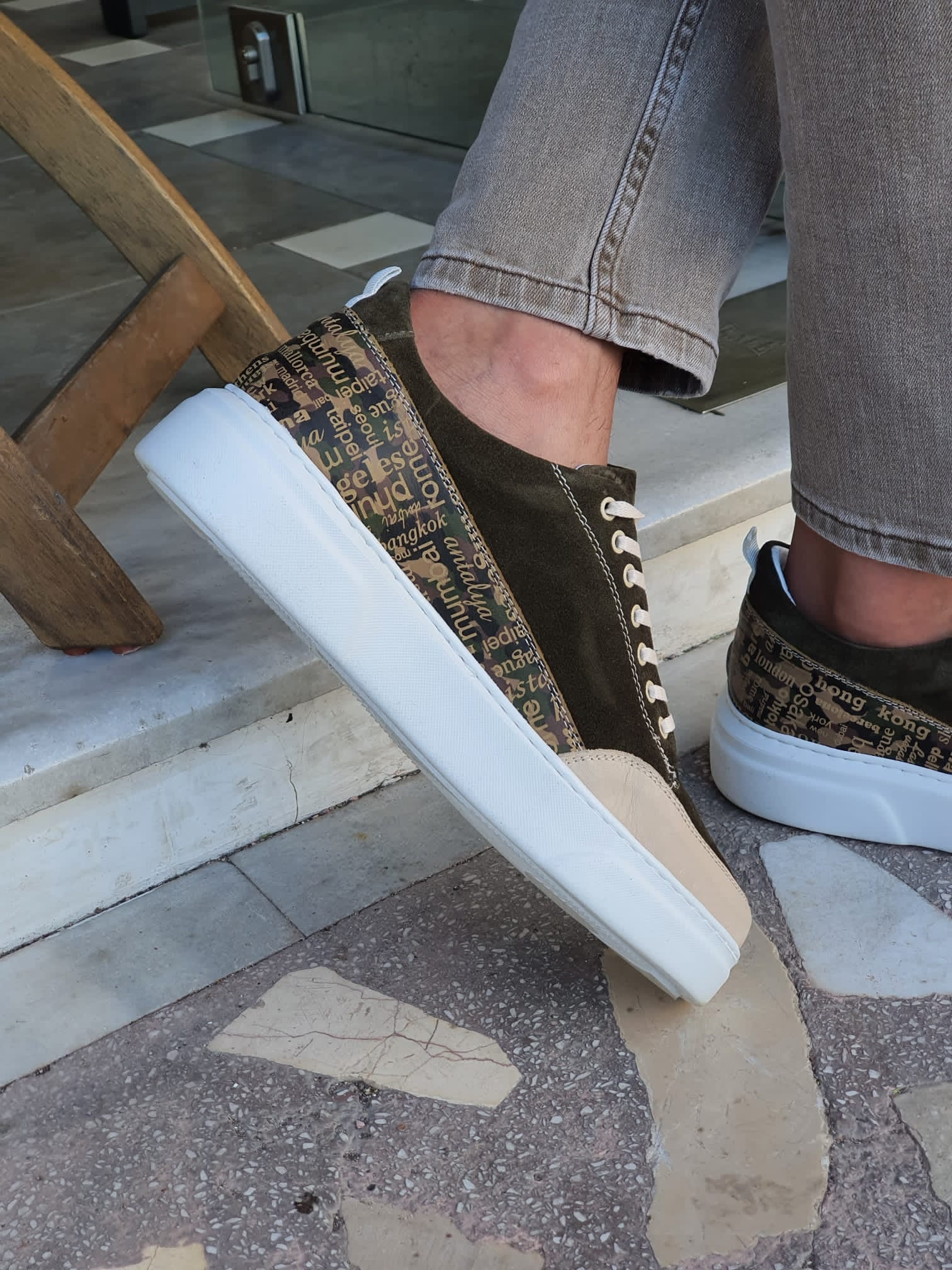 Monterey Khaki High-Top Suede Sneakers