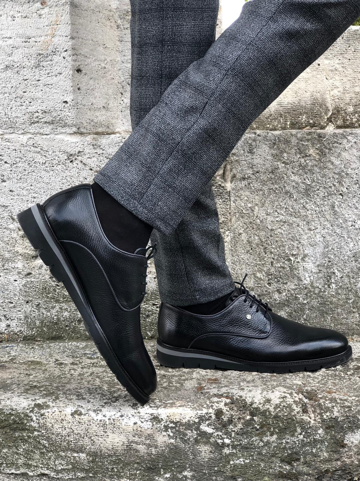 The Rebe Black Laced Oxfords