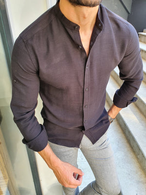 Madison Black Slim Fit Cotton Shirt