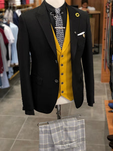 Bond Multi Colored Slim Fit Suit
