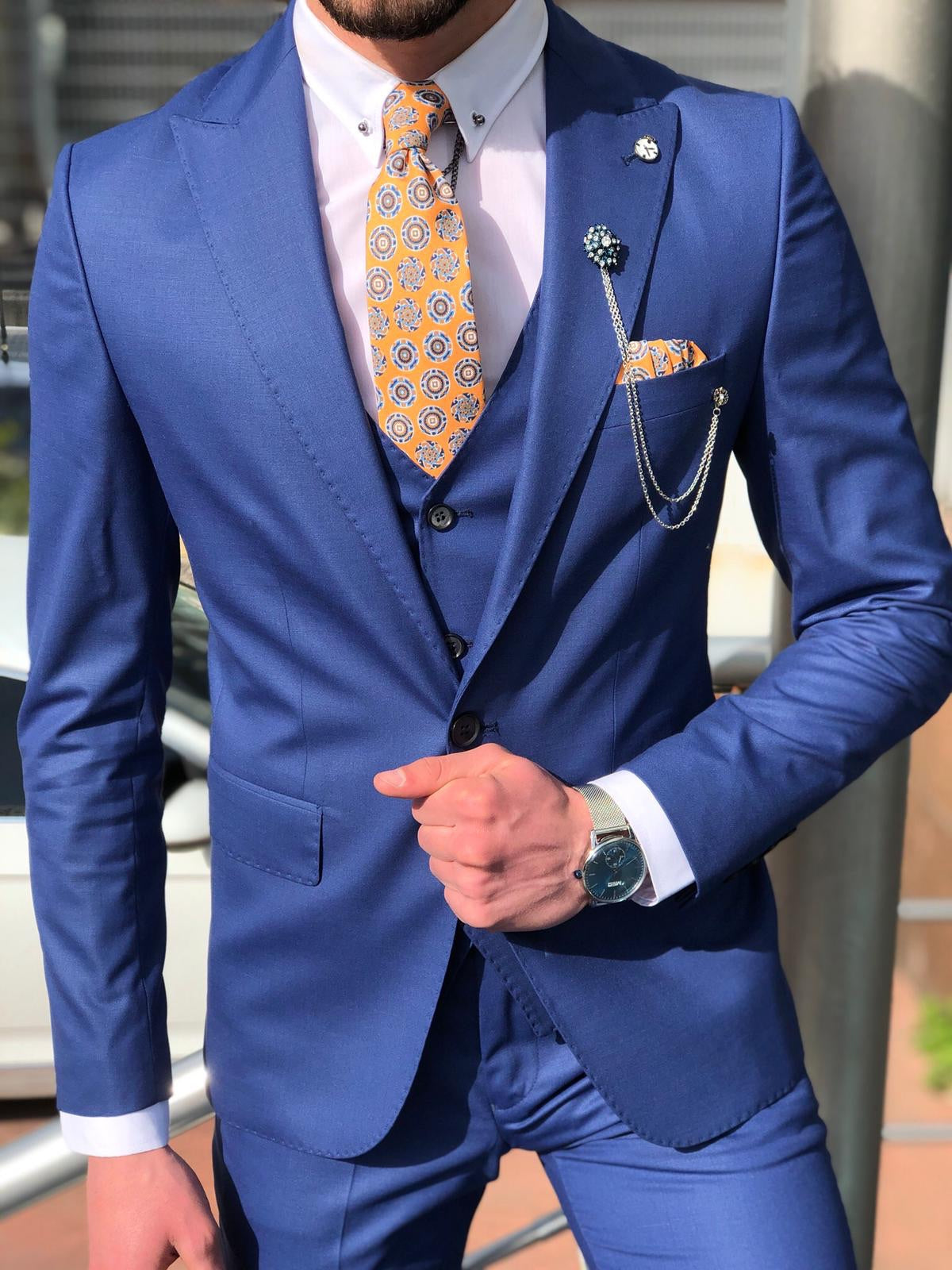 Bernard Sax Slim Fit Suit