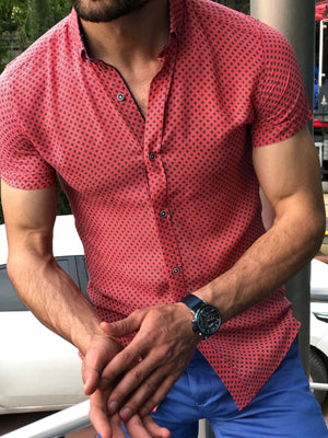 Infinite Coral Red Slim Shirt