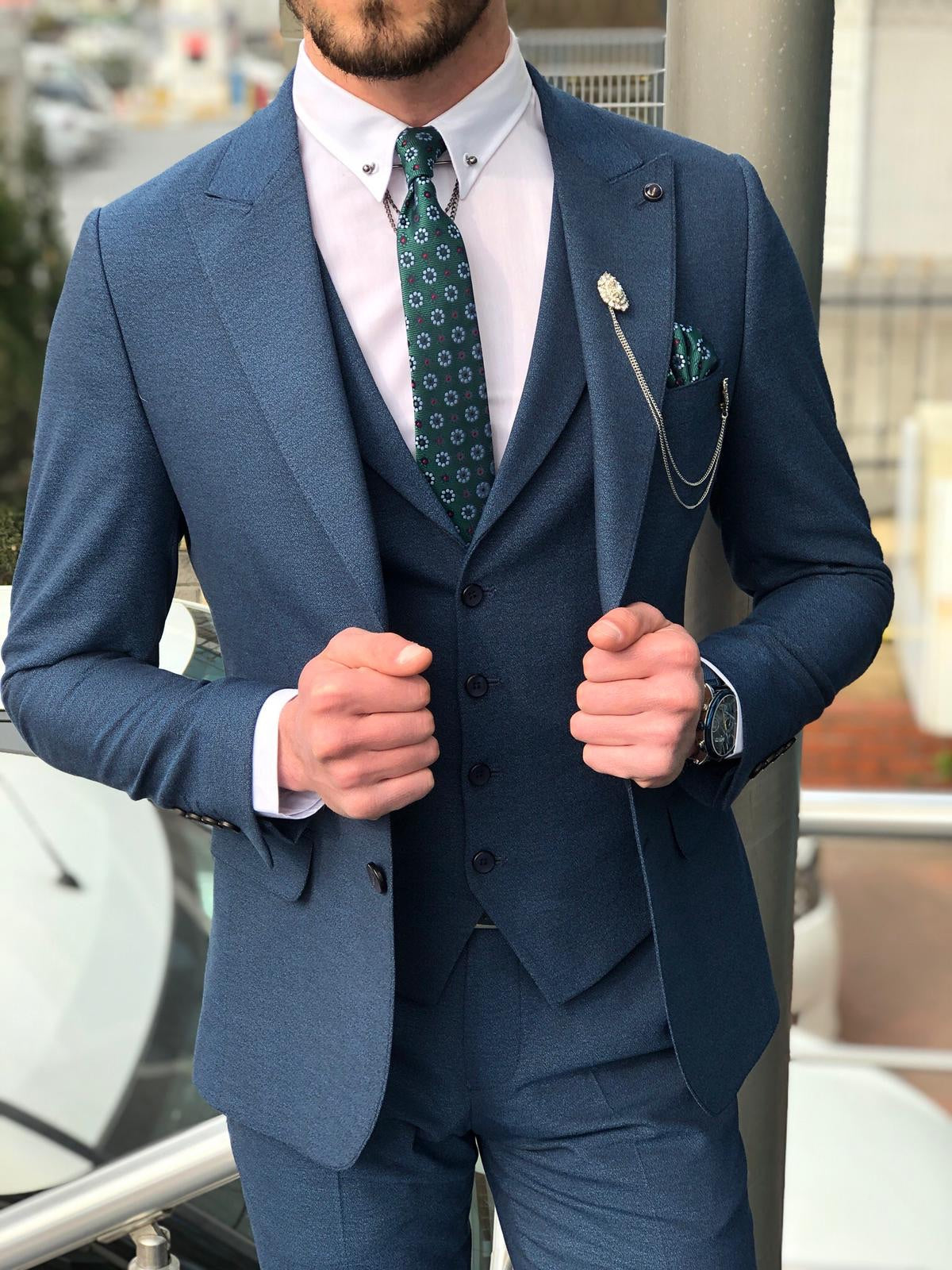 Madison Light Blue Suit