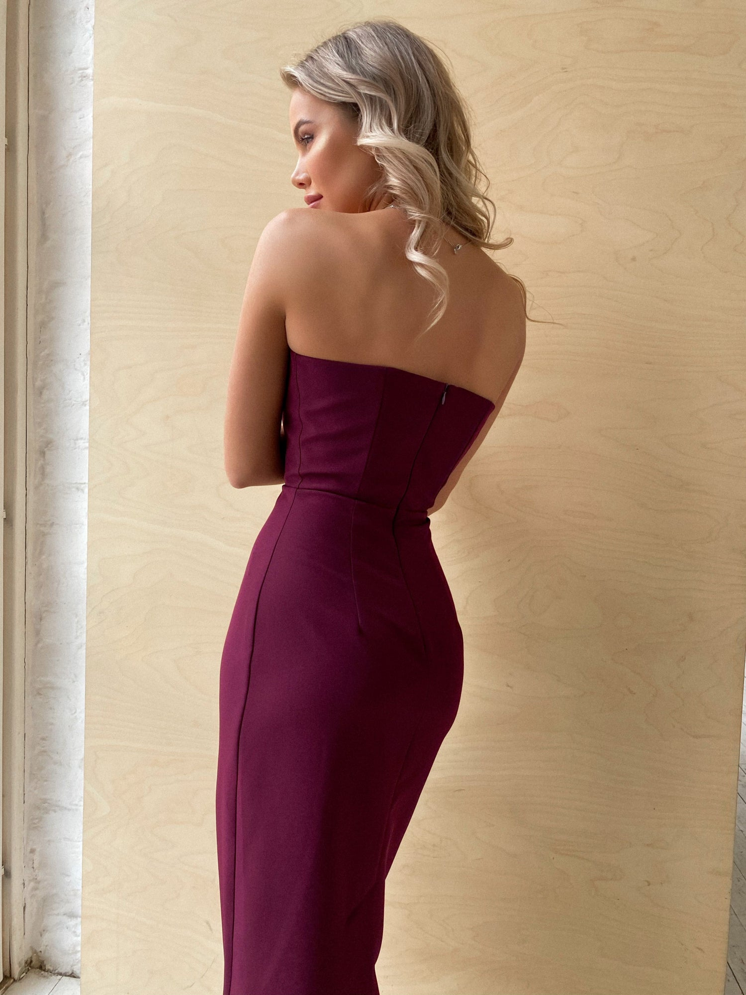 Purple Bodycon Corset Top Dress