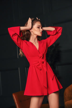 Red Coral playsuit