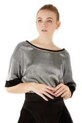 Metalic knitted blouse