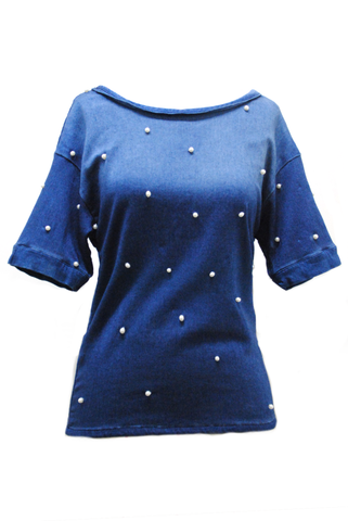Denim Pearls T-Shirt