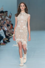 Midi Dress Fringed Lace