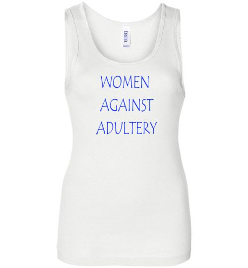 Women Against Adultery Ladies Tank
