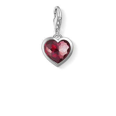 Framed Heart with Silver Charm Pendants