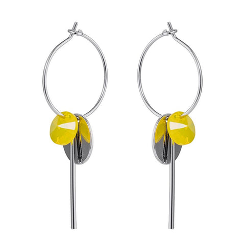 Stone & Spike Drop Earrings