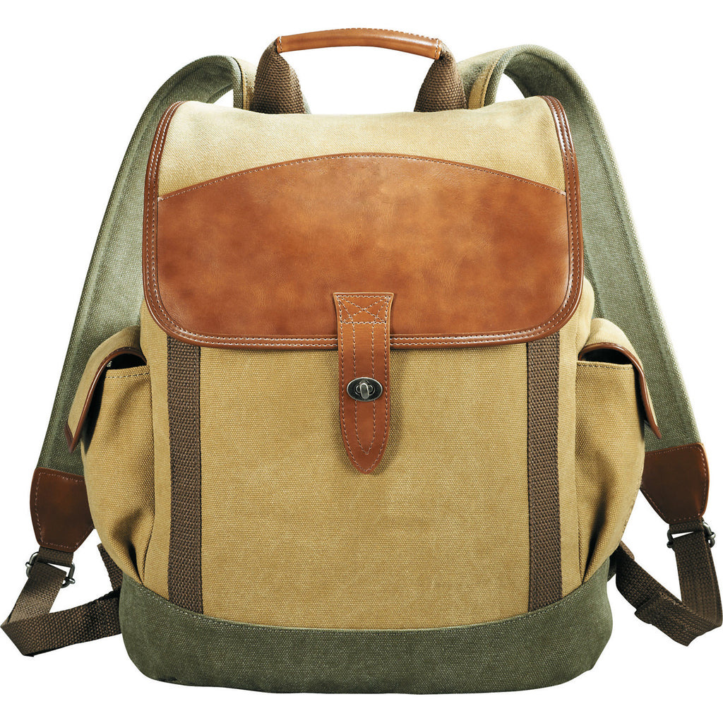 Cutter & Buck® Legacy Cotton & Leather Backpack
