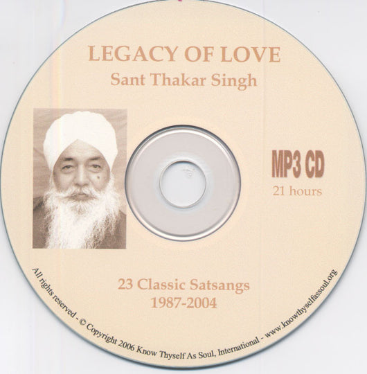 MP3 CD Legacy of Love