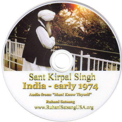 Sant Kirpal Singh in India - early 1974