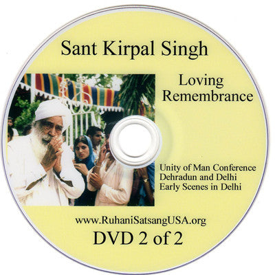 Loving Remembrance DVD 2 of 2 (HINDI)