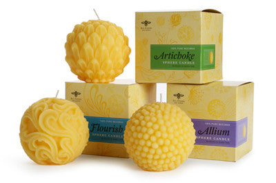 Artisan Beeswax Candle - ALLIUM Sphere