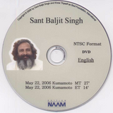 2006 Talks, Sant Baljit Singh DVDs