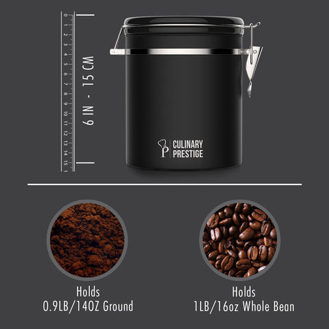Culinary Prestige™ Black Coffee Canister