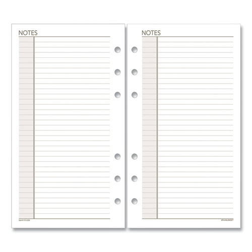 Lined Notes Pages, 6.75 X 3.75, White, 30-pack