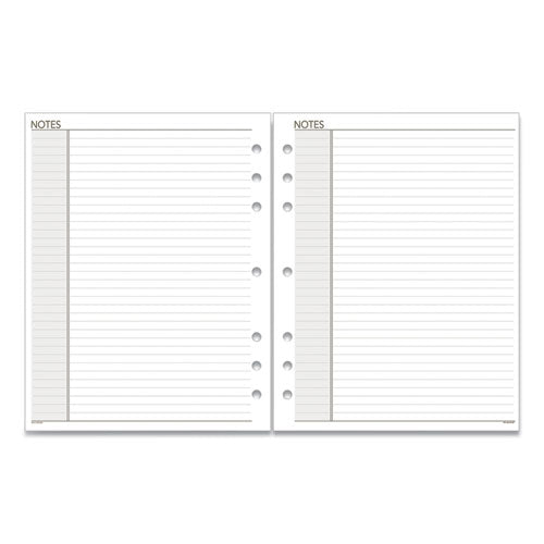 Lined Notes Pages, 11 X 8.5, White, 30-pack