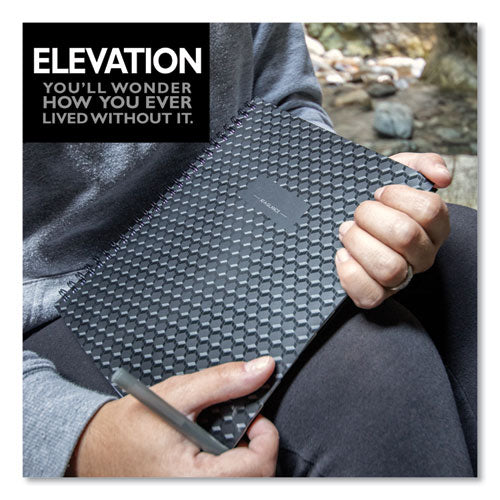Elevation Academic Weekly-monthly Planner, 11 X 8.5, Black, 2020-2021
