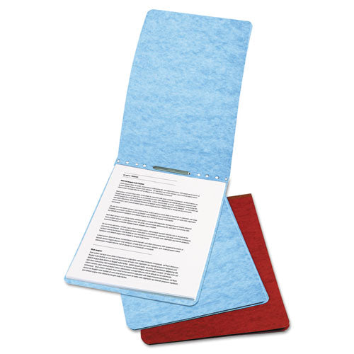 "Presstex Report Cover, Top Bound, Prong Clip, Letter, 2"" Cap, Red"