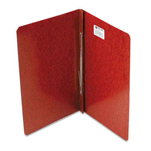 "Presstex Report Cover, Side Bound, Prong Clip, Legal, 3"" Cap, Red"