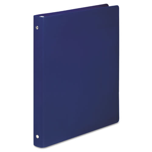 "Accohide Poly Round Ring Binder, 3 Rings, 0.5"" Capacity, 11 X 8.5, Dark Blue"