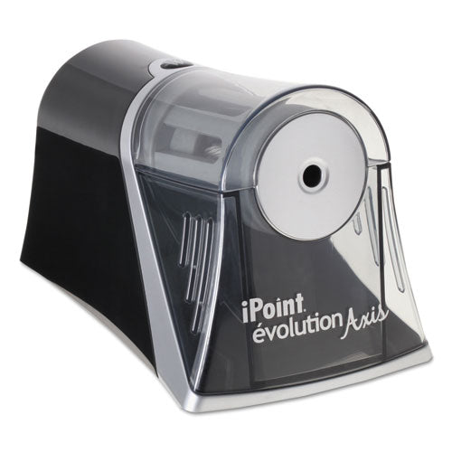"Ipoint Evolution Axis Pencil Sharpener, Ac-powered, 4.25"" X 7"" X 4.75"", Black-silver"
