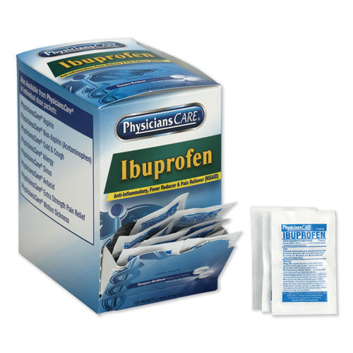 Ibuprofen Pain Reliever, Two-pack, 125 Packs-box