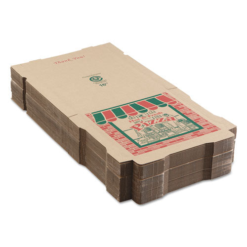 Corrugated Pizza Boxes, 16 X 16 X 1 3-4, Kraft, 50-carton
