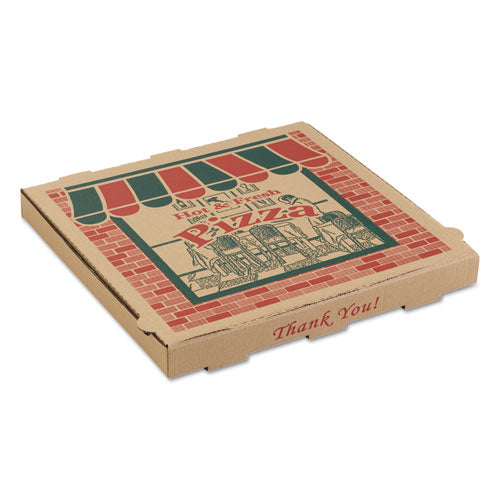 Corrugated Pizza Boxes, Kraft, 18 X 18, 50-carton