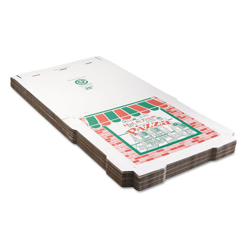 Corrugated Pizza Boxes, Brown-white, 28 X 28, 25-carton